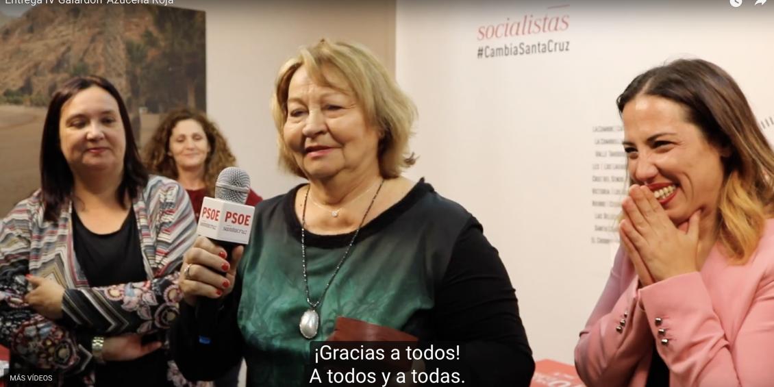 Entrega IV Galardón 'Azucena Roja'