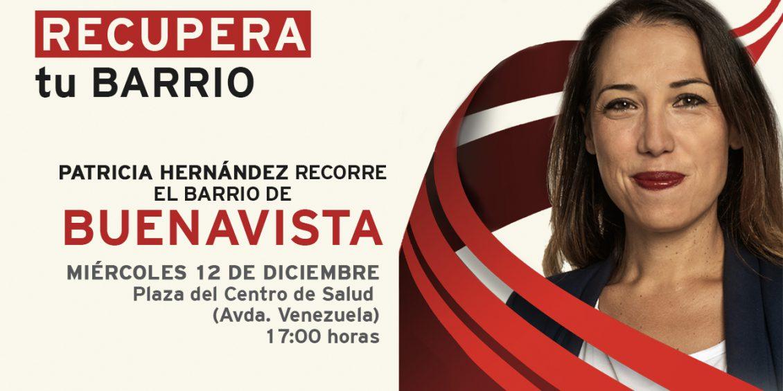 Patricia Hernández recorre Buenavista