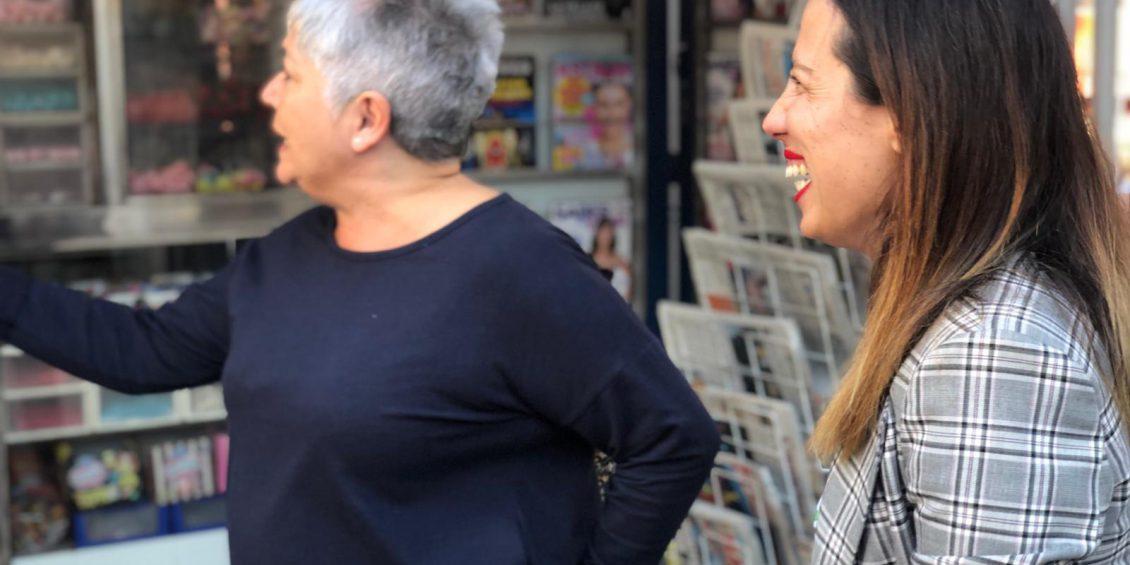 Patricia Hernández recorrió El Barrio de Buenavista con los vecinos
