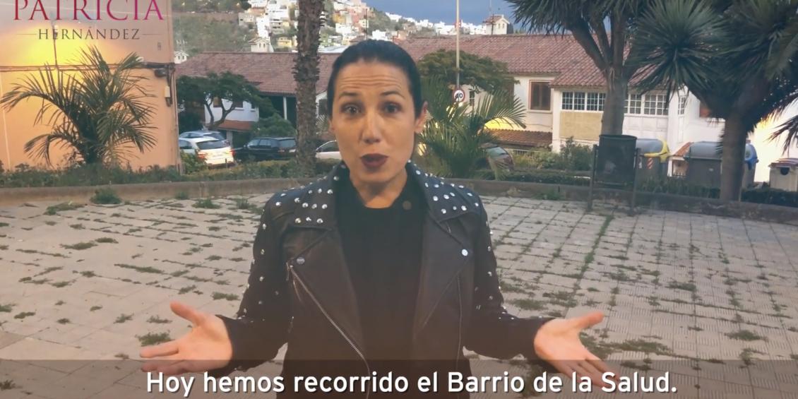 Patricia Hernández recorre La Salud, su barrio