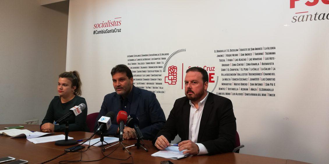 Andrés Martín, JA Martín y Elena Mateo en una rueda de prensa