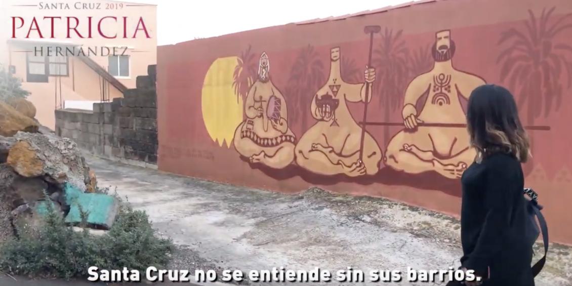 Patricia Hernández recorre El Tablero con sus vecinos