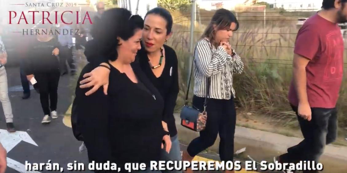 Patricia Hernández recorre El Sobradillo