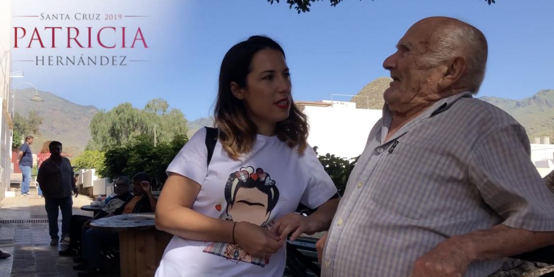Patricia Hernández recorre San Andrés con los vecinos