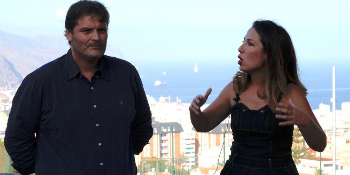 José Ángel Martín y Patricia Hernández durante su presentación como candidata