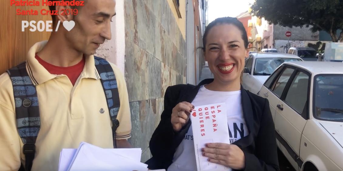 Patricia Hernández recorre La Salud bajo