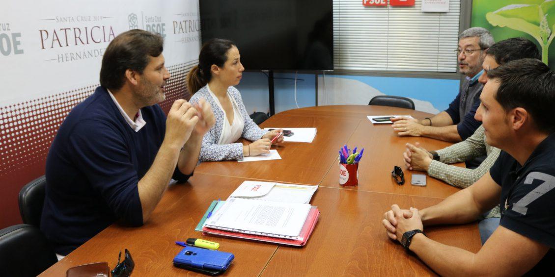 Patricia Hernández celebra una reunión con representantes de UGT del Ayuntamiento de Santa Cruz